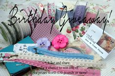 BIRTHDAY GIVEAWAY TIME Share this post (https://www.facebook.com/coolcrafting.workshops.9/posts/1528213340734783)and like us on facebook for a chance to win one of 3 lots of crafting goodies each worth over 30 pounds.Buttons, fabric, ribbons, patterns and bias binding all to be won. some DIY crafting magic could be coming your way.. alternatively re-pin and favourite this to be in with a chance of winning! winners will be announced via our facebook and twitter on Sunday 6th July.