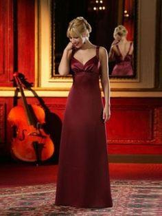 A-line Floor-length Sweetheart Satin Bridesmaid Dress