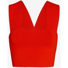 3954759318e0 A.L.C. Ali Crop Tank  Red ( 185) ❤ liked on Polyvore featuring tops