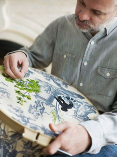 Richard Saja...what a great idea to embroider directly over toile pattern