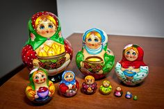 Matryoshka dolls by Señor Don Goat, via Flickr