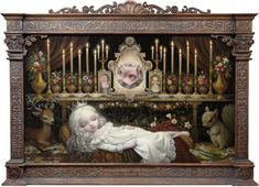 Mark Ryden born January 20 1963 is an American painter part of the Lowbrow or Pop Surrealist art movement He was dubbed the godfather of pop surreali Mark Ryden, Art Pop, No Ordinary Girl, Arte Lowbrow, Jeff Koons, Postcard Printing, Surreal Art, Oeuvre D'art, Art Inspo