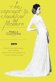 Anela Clothing wedding gowns since 2011 at Minami Azabu