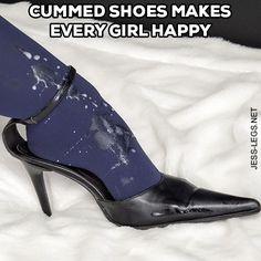 Cummed Shoes makes every Girl happy!http://shop.jess-legs.net