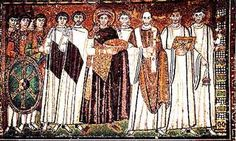 Emperor Justinian and court