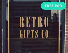 Free Window Signage Mockup