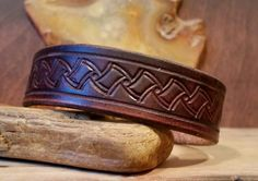 Leather Cuff Distressed Leather Rustic Bracelet by LeatherVision