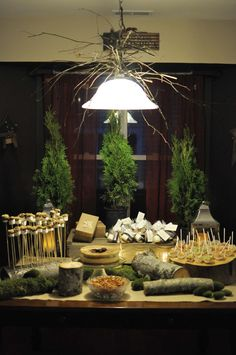 Woodsy Shower Tablescape