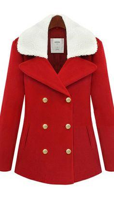 double-breasted wool coat winter coat