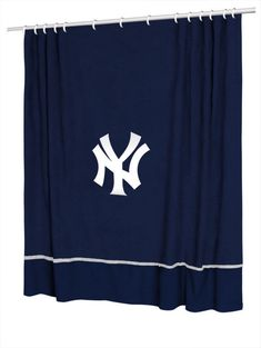 New York Yankees Sports Coverage Team Color Shower Curtain Sidelines  #SportsCoverage #NewYorkYankees