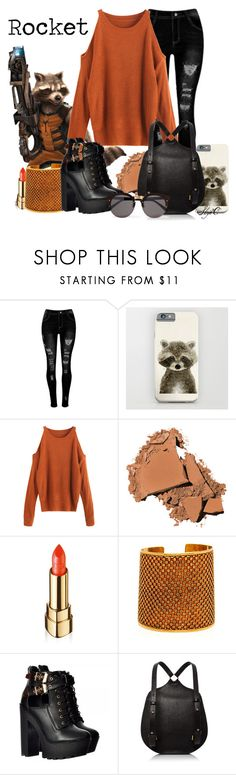 """""""Rocket - Marvel's Guardians of the Galaxy"""" by rubytyra ❤ liked on Polyvore featuring Bobbi Brown Cosmetics and Illesteva"""