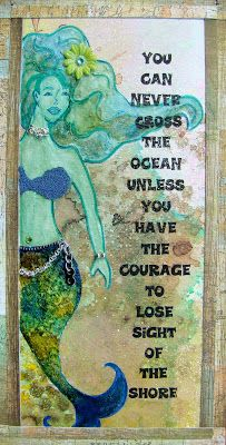 mermaid, mixed media canvas, wall art, home decor Mermaid Room, Mermaid Beach, Mermaid Art, Mermaid Canvas, Real Mermaids, Mermaids And Mermen, Mermaid Quotes, Mermaid Kisses, Metal Tree Wall Art