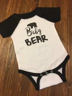 Baby Bear Shirt. First Birthday Shirt. Baby Baseball Tee. Baby Girl Outfit. Baby Boy Outfit. Baby Bodysuit. Baby Shower Gift. Newborn Gift.