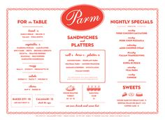 Art of the Menu: Parm