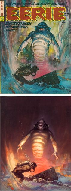 FRANK FRAZETTA - Eerie #3 - May 1966 Warren Publications - cover by Cap'n's Comics - print by museumsyndicate.com