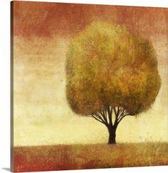 Ken Roko Premium Thick-Wrap Canvas Wall Art Print entitled Golden Tree I