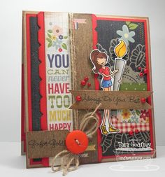 I made this card with the MFT, A La Modes, Go for the Gold Stamp Set and the Notched Border Die-namics.