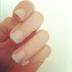 got my nails done yesterday! Gelish seafoam green alexandrajean