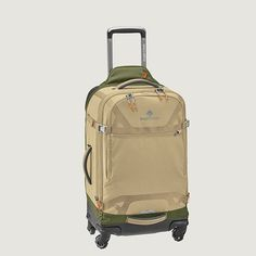 This check-in spinner gear bag is the ultimate travel companion with easy mobility and ultra-light carry. Use the Equipment Keeper™ to strap bulky items to the bag, compression straps to attach gear, and Porter Key™ bottle opener to crack open that cold b
