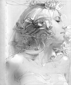 Line & sketch 3 by zhang weber art in 2019 dibujar arte, arte pintura, Illustration Fantasy, Gravure Illustration, Illustration Art Nouveau, Illustration Art Drawing, Art Drawings Sketches, Pencil Drawings, Pencil Art, Life Drawing, Figure Drawing