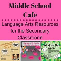 Find GREAT RESOURCES AND LESSONS for your middle school and high school class!