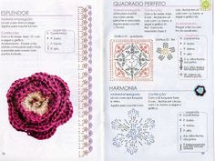 Ideas para el hogar: 30 Moldes de flores en crochet