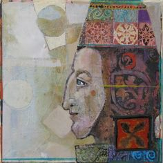 """Anne Bagby """"I employ a combination of printmaking and painting, with layers of color, glaze, texture and pa..."""