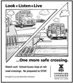 19 Best Rail Safety Images Railroad Tracks Driving Safety Billboard