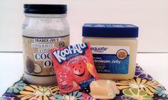 Lip Balm Recipe using KoolAid!:: spa party activity