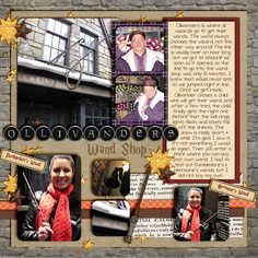Page Wizarding World of Harry Potter (Orlando) Non-Disney Theme Parks in the area Vacation Scrapbook, Disney Scrapbook Pages, Scrapbook Journal, Scrapbook Page Layouts, Scrapbooking Ideas, Harry Potter Disney, Harry Potter Universal, Harry Potter Scrapbook, Disney Nursery