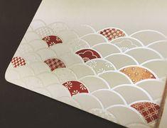 招待状 神楽(かぐら)和風招待状|結婚式 手作り招待状 のAMO LEAF Book Design, Layout Design, Print Design, Graphic Design, Chinese Patterns, Japanese Patterns, Envelope Design, Red Envelope, Japanese Poster Design