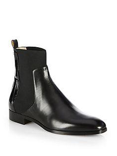Jimmy Choo Mane Leather Chelsea Boots