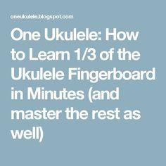How to Learn of the Ukulele Fingerboard in Minutes (and master the rest as well) Ukulele Songs Beginner, Ukulele Chords Songs, Cool Ukulele, Ukulele Tabs, Ukulele Cords, Banjo Ukulele, Box Guitar, Piano Lessons, Guitar Lessons
