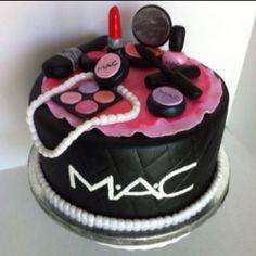 Mac make-up cake..... 25th b-day
