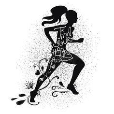 Image result for runner silhouette girl hair