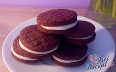 Domácí oreo sušenky Pancakes, Food And Drink, Yummy Food, Cookies, Drinks, Breakfast, Sweet, Desserts, Recipes