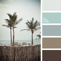Natural blend of cold shades of blue and brown make for a translucent pastel palette of the ocean coast. This color scheme can be used to design bedrooms, living rooms or study-libraries. This color. Colour Schemes, Color Combos, Colour Palettes, Cool Color Palette, Color Azul, Pantone, Deco Pastel, Pintura Exterior, Brown Bathroom