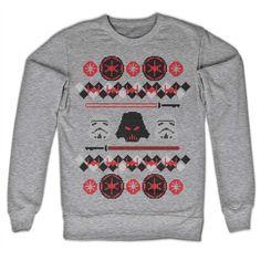 Star Wars - Imperials X-Mas unisex sweatshirt light gray - Film merchandise Star Wars Sweatshirt, Graphic Sweatshirt, Pullover, Hoodies, Sweatshirts, Christmas Sweaters, Unisex, Stars, Knitting