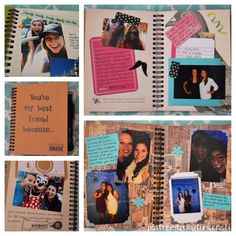 "DIY best friend gift! I made this book titled ""You're My Best Friend Because...""…"