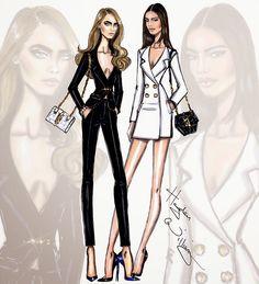 Hayden Williams Fashion Illustrations: Cara & Kendall by Hayden Williams