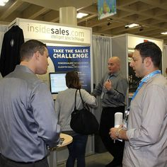 Working the InsideSales.com booth at Dreamforce 2011 in San Francisco, CA with Mark Gaudette