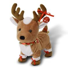 Jingles Plush Toy Reindeer Walks Wiggles Jiggles and Sings Jingle Bells Christmas Scenes, Christmas Gifts, Christmas Things, Moving Gifts, Interactive Toys, Plush Animals, Jingle Bells, Inspirational Gifts, Dinosaur Stuffed Animal