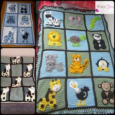 You and your kids can have all the comfort of an afghan and all the fun of an animal right in this one crochet pattern - Crochet Zoo Blanket Base.