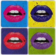 Oscar Stone  Kisses Doğal Taş Bardak Altılığı : 24,90 TL   evmanya.com