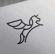 42 Ideas Tattoo Geometric Lines Logos Art Design, Geometric Lines, Creative, Unicorn Logo, Graphic Design, Icon Design, Design Art, Grafik Design, Animal Logo