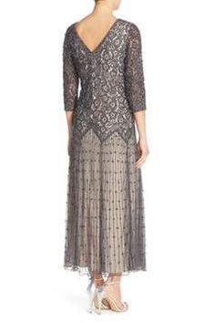 Alternate Image 2 Selected - Pisarro Nights Beaded Mesh Dress (Regular & Petite)