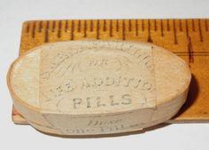 "Life Addition Pills"" Sample Wood Pill Box Full Sealed"
