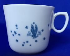 VTG American Airlines Mug American Eagle II Pattern Airlight Syracuse China Cup