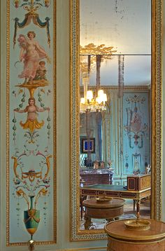 Rothschild residence, with boiseries by Feau & Cie. Arabesque, Wood Paneling, Panelling, Paris Decor, French Architecture, Antique Interior, Decorative Panels, How To Antique Wood, Chinoiserie