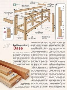 Heavy Duty Workbench Plans - Workshop SolutionsYou are in the right place about small Workbench Plans Here we offer you the most beautiful pictures about the folding Workbench Plans you are looking for. When you examine the Heavy Duty W Simple Workbench Plans, Small Workbench, Garage Workbench Plans, Building A Workbench, Workbench Designs, Diy Workbench, Diy Wooden Projects, Wood Shop Projects, Wooden Diy
